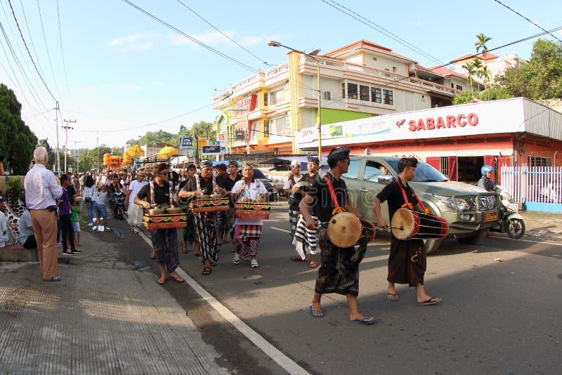 Balijczyk Gamelan przy Kulturalnym festiwalem 2017 fotografia stock