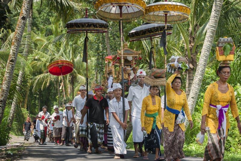 Balijczyka ceremoniału korowód zdjęcia stock
