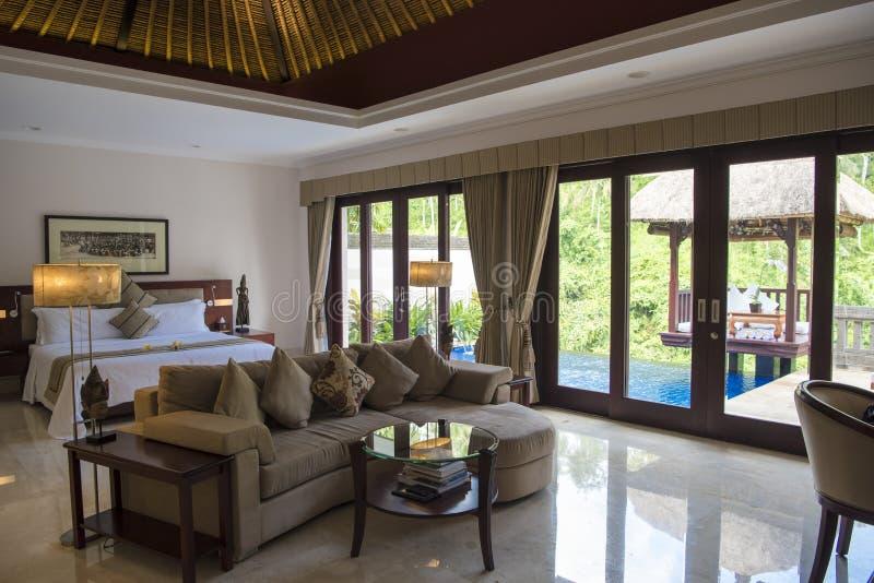 Balijczyka luksusowego hotelu namiestnik, Ubud obraz stock