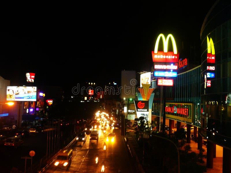 Balikpapan stad, Indonesien arkivbild