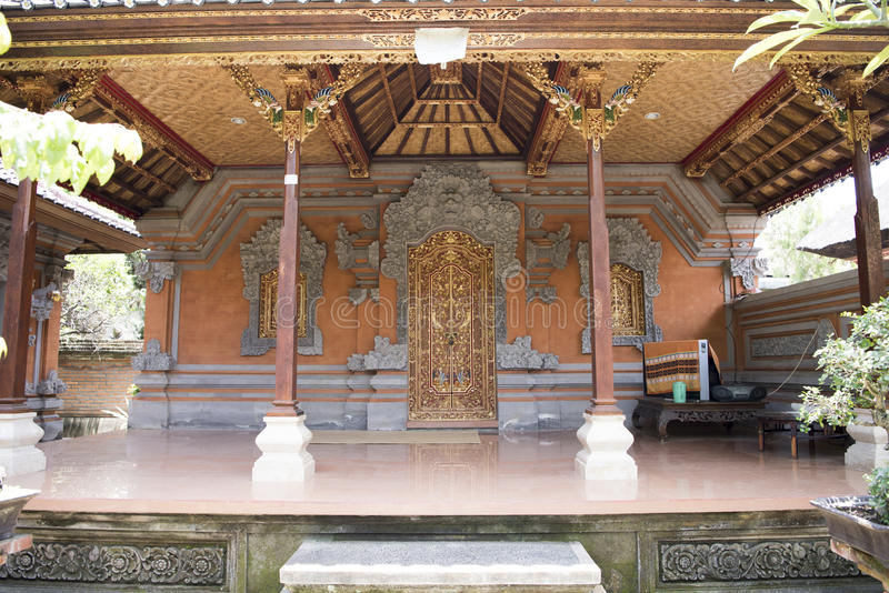Balinese house entrance royalty free stock photo