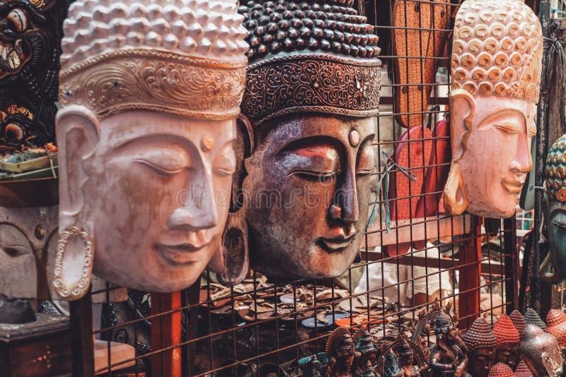 balinese маскирует деревянное стоковое изображение rf