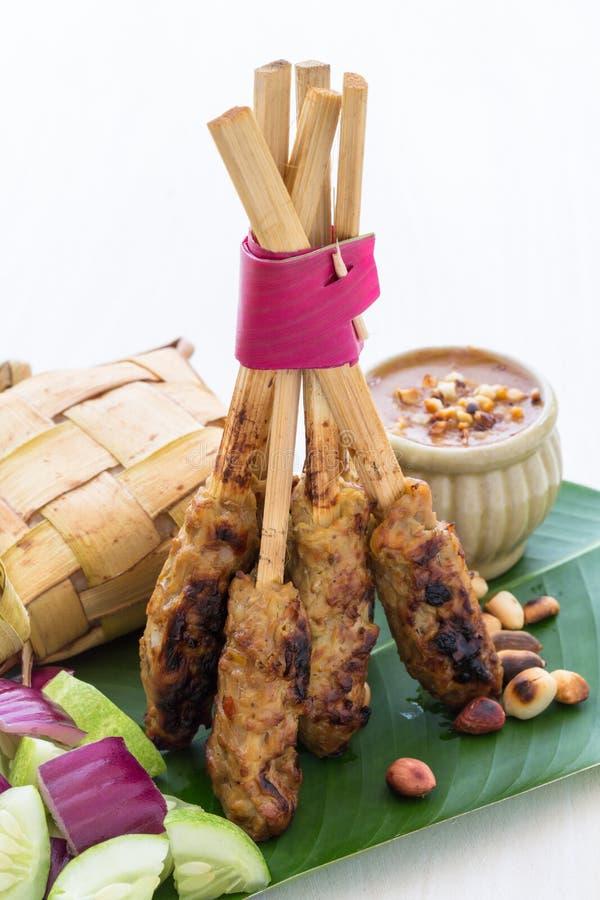 Balinese Chicken Satay stock photos