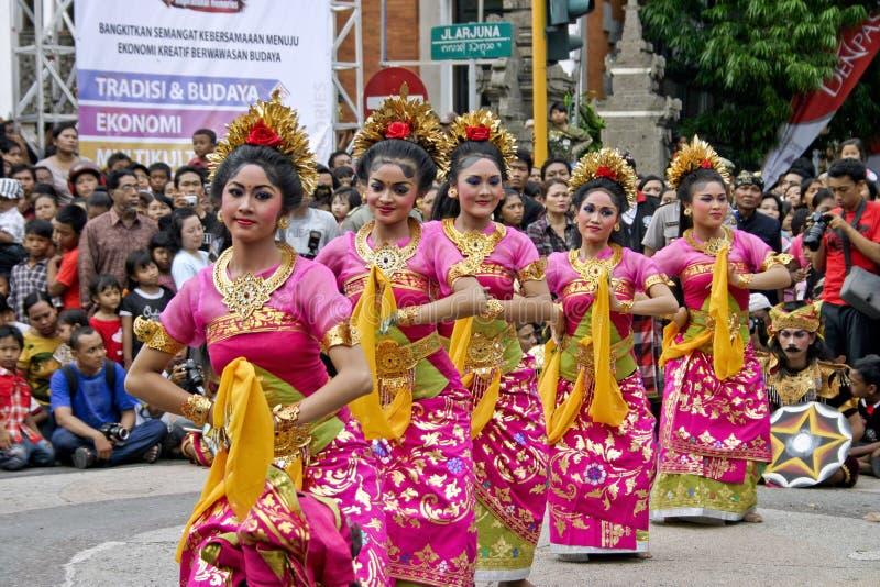 Balinese Dansers stock afbeeldingen