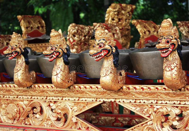 Balinese Gamelan. Stock photo of Balinese traditional music instrument stock photo