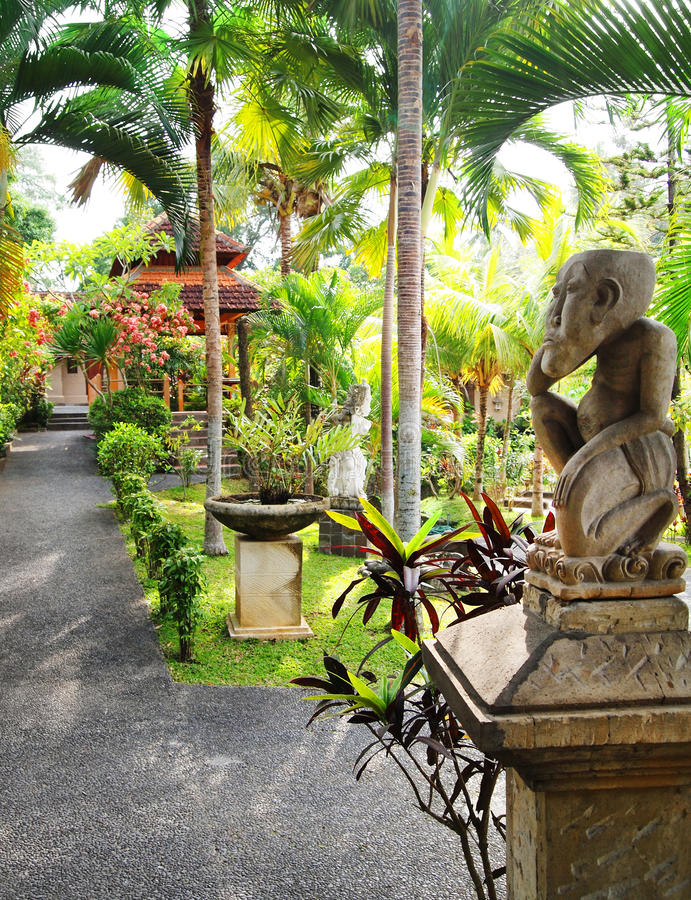 Balinese Garden Landscaping Royalty Free Stock Photography