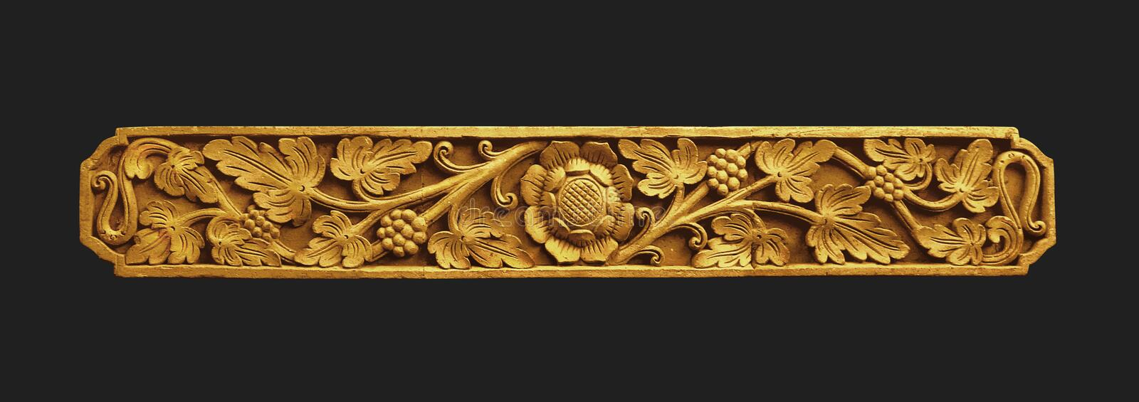 Balinese Gold Ornament royalty free stock photography
