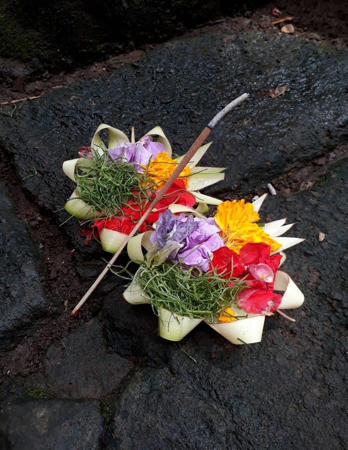Balinese Hinduism Offerings stock image