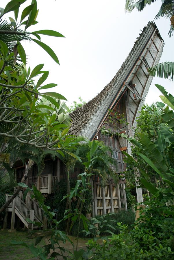 Balinese house stock image
