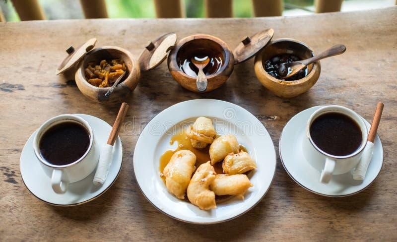 Balinese koffie op vakantie in Indonesië stock afbeelding