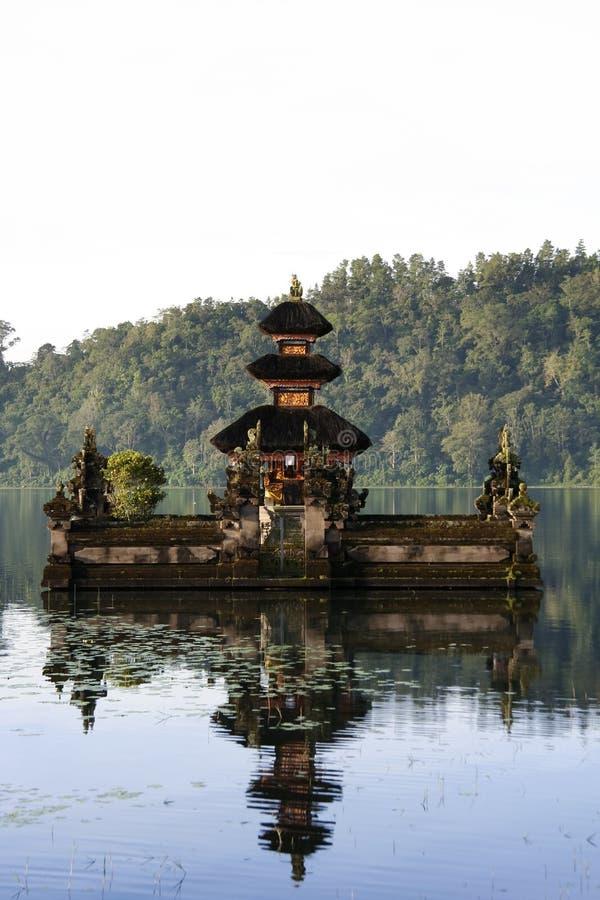 Balinese lake temple bali indonesia. Pura Ulun Danu temple reflected in calm waters of lake brataan, bali, indonesia royalty free stock photo