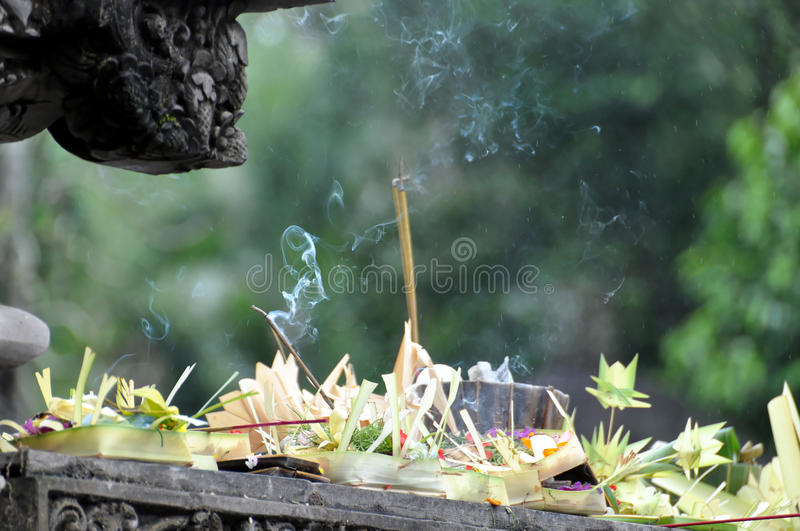 Balinese offering stock images