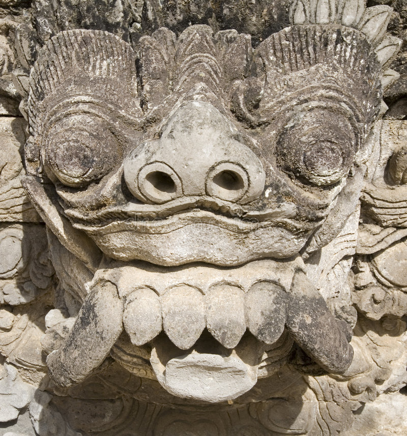 Balinese que talla 4 fotografía de archivo