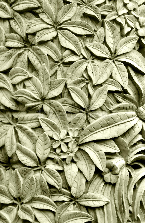 Download Balinese Style Stone Carving, Plumeria Flowers Stock Photo - Image: 41267100