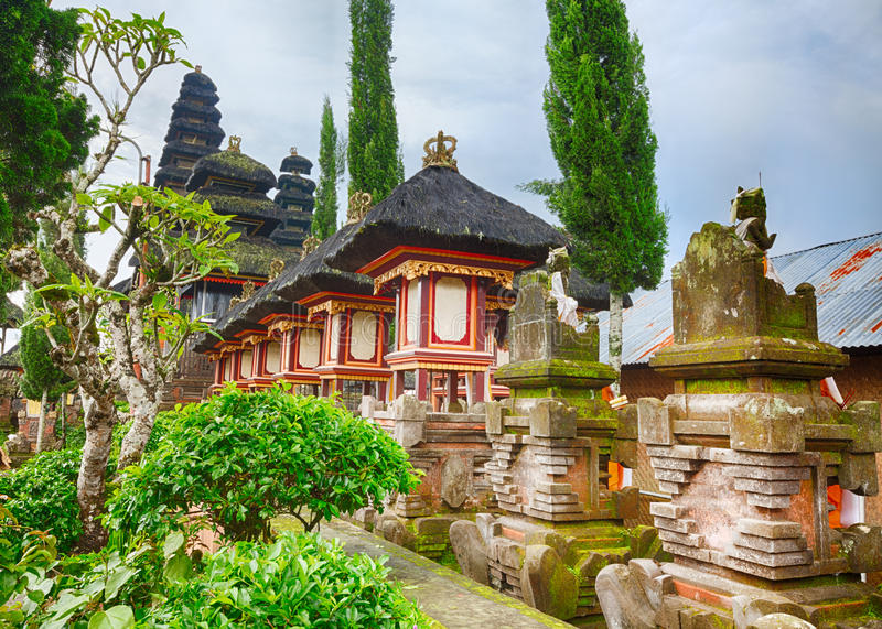 Balinese temple royalty free stock photos