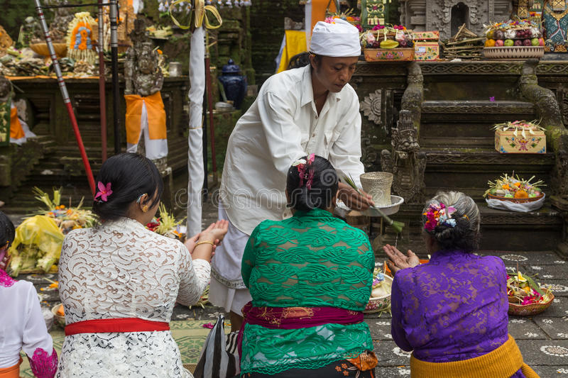 Balinese Temple Ceremony stock images