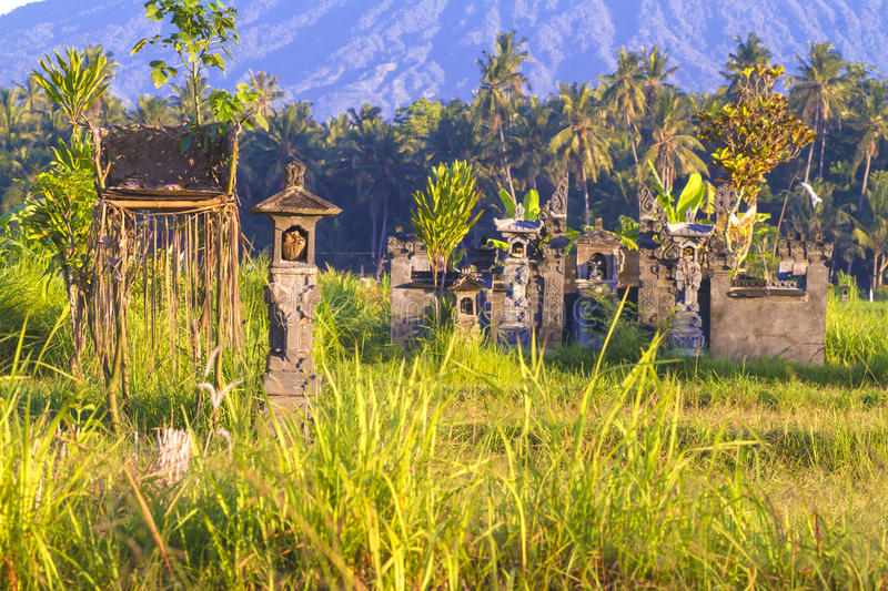 Balinese temple.Mt. Agung, Amed, Bali. stock photos