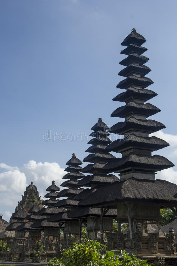 Balinese temples Pura Besakih royalty free stock photos