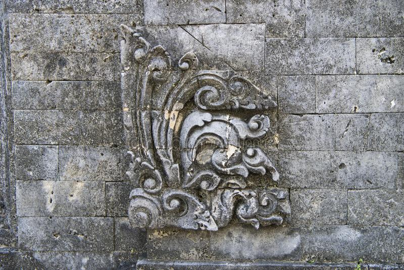 Balinese traditional carved stone ornament royalty free stock image