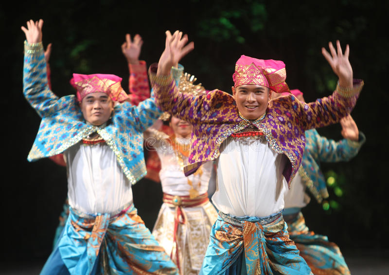 BALINESE TRADITIONAL DANCE. Dancers performs bali traditional dance Barong and Kris Dance at Solo, Indonesia royalty free stock photography