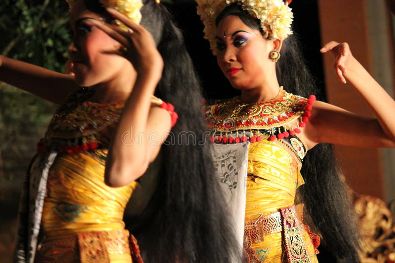Balinese traditional Dancers royalty free stock photo