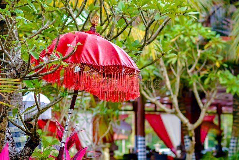 Balinese traditional umbrella shade stock photography