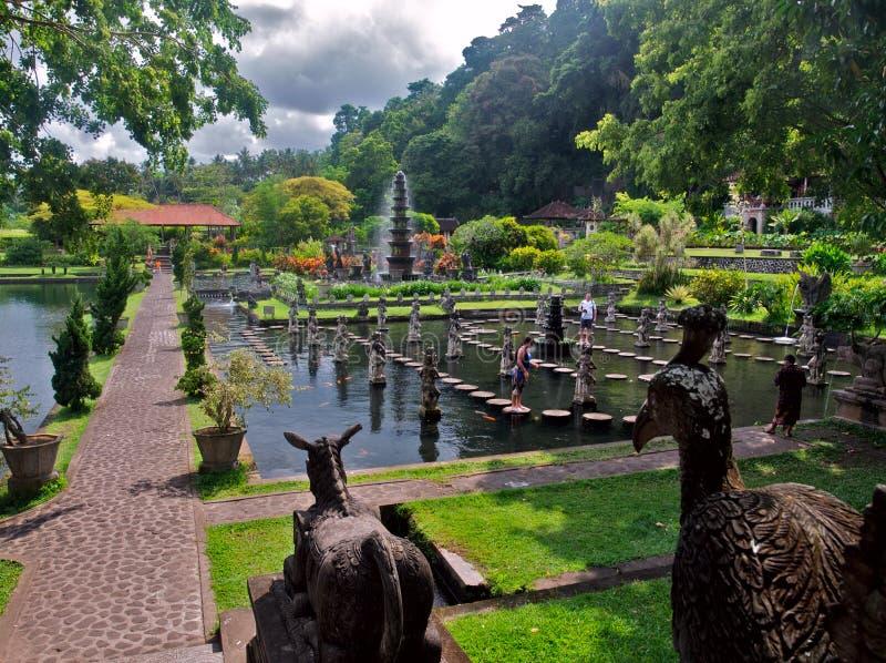 Balinese water palace stock photo