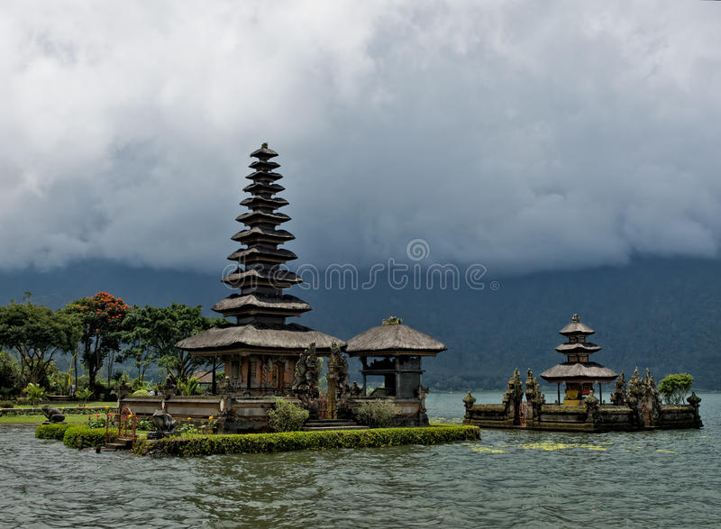 Balinese water temple stock photo