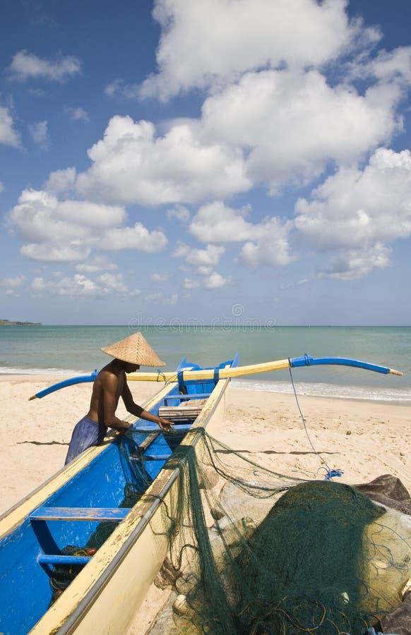 Balinesefischer stockfoto