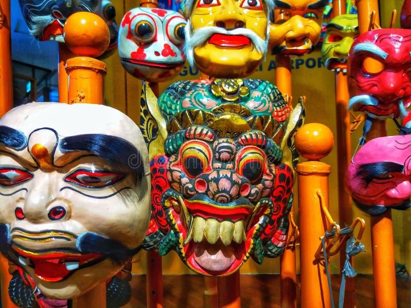 Balinesemasken lizenzfreie stockfotografie