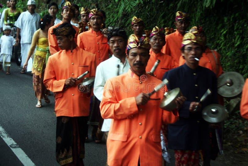 Balinesemusik royaltyfria bilder