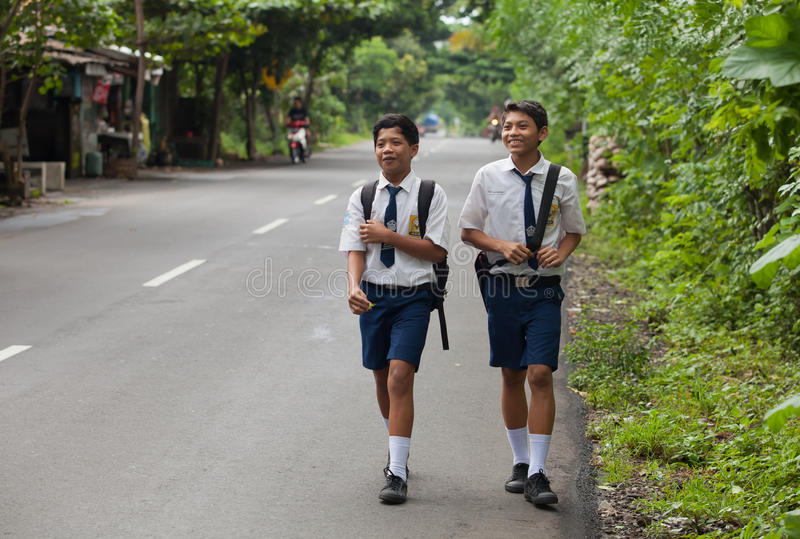 balinesen lurar skolan royaltyfria foton