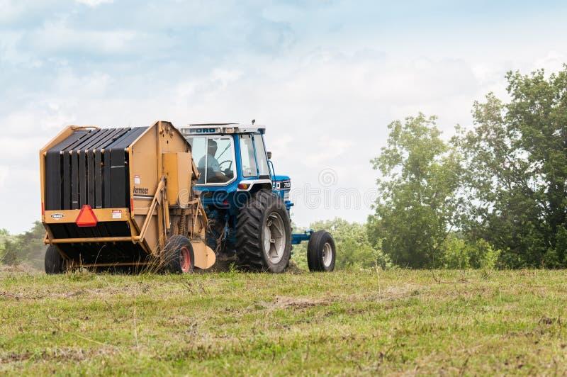 Baling hay stock photos