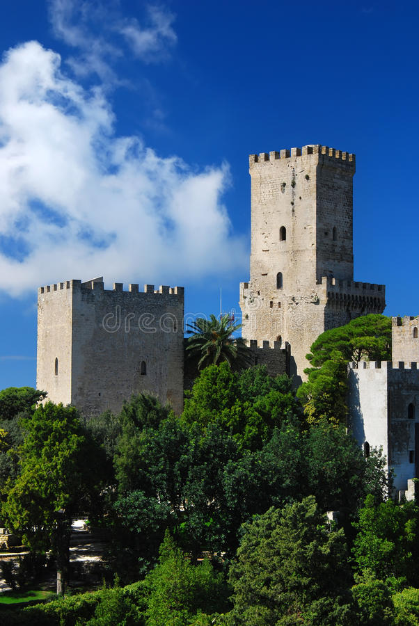 Balio castle in Erice royalty free stock photography