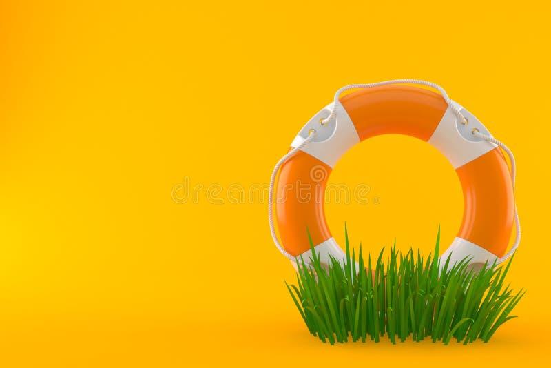 Balise de vie sur l'herbe illustration libre de droits