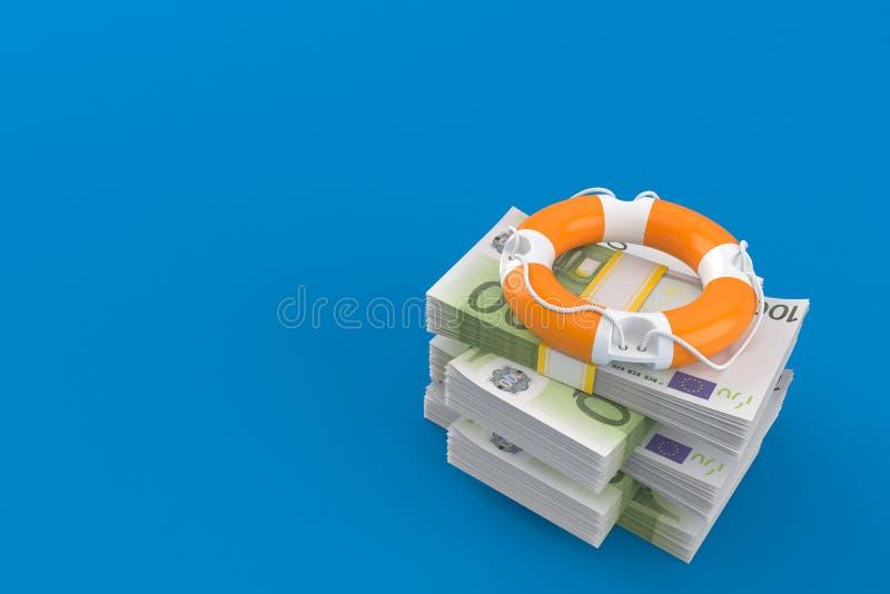 Balise de vie sur la pile d'argent illustration de vecteur