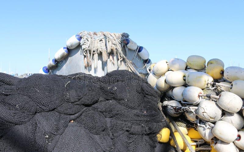 Balise nette de bateau de pêche images libres de droits