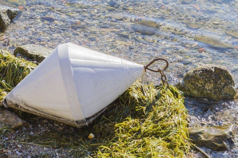 Balise sur le lac image libre de droits