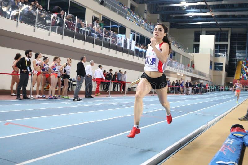 Balkan Atletiek Binnenkampioenschappen stock afbeeldingen