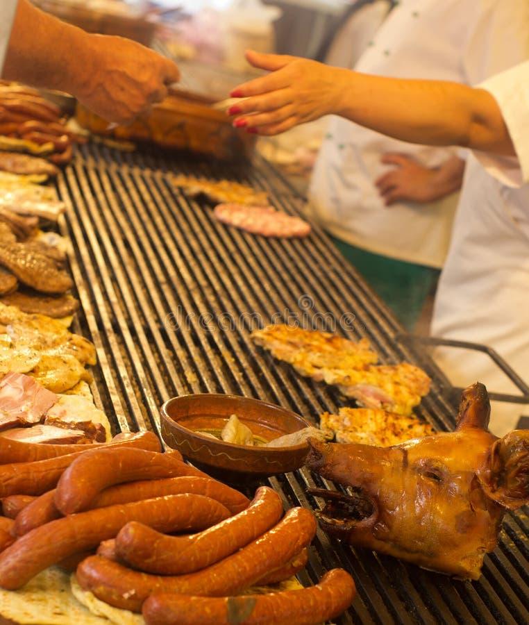 Balkan barbecue stock afbeeldingen