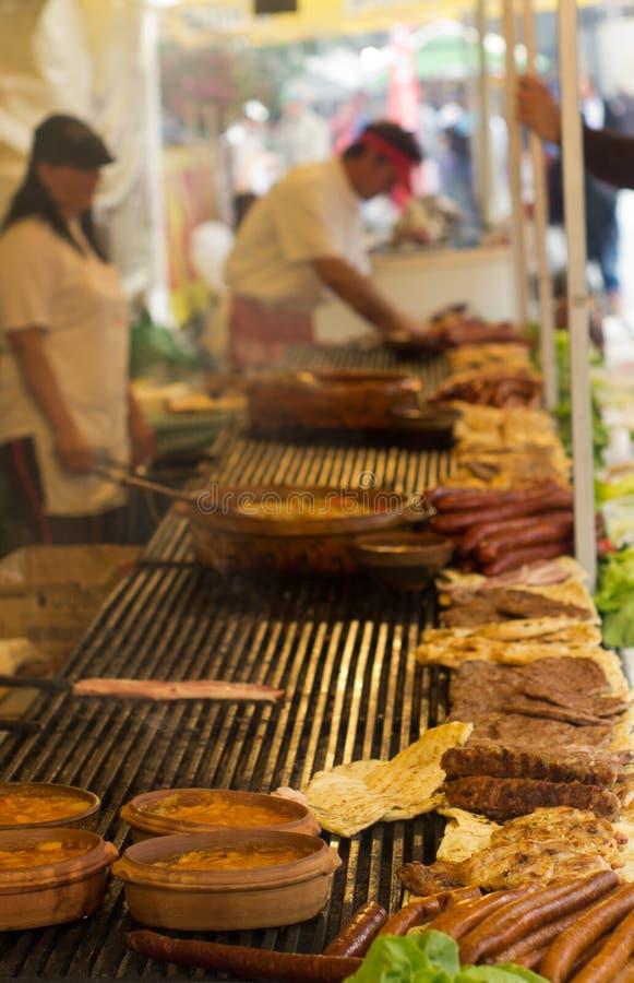 Balkan barbecue stock foto