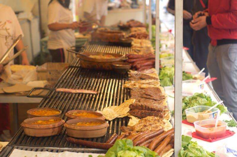 Balkan barbecue royalty-vrije stock foto's