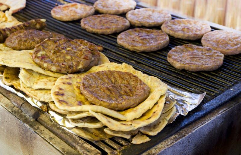 Balkan hamburgers royalty-vrije stock foto