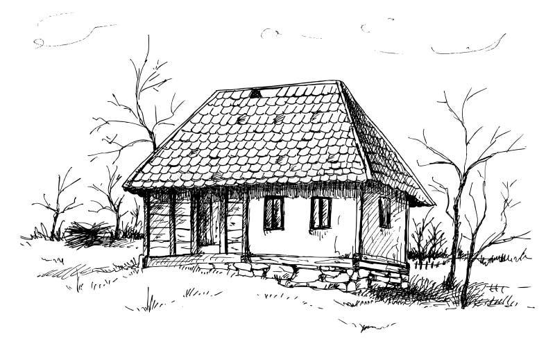 Balkan-Haus vektor abbildung