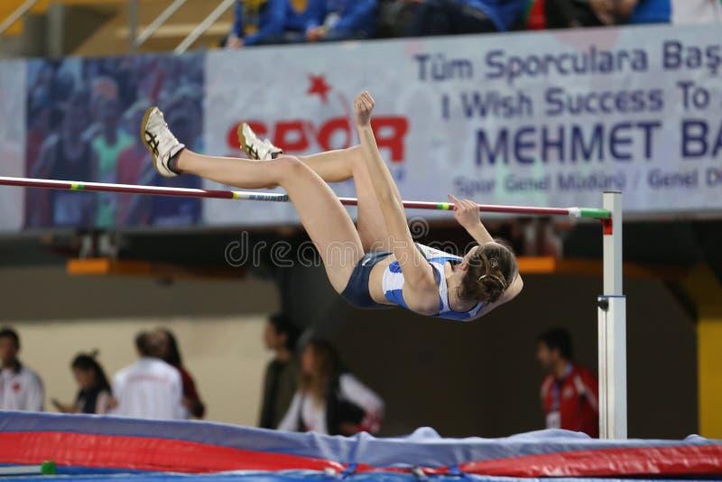 Balkan Junior Indoor Championships Istanbul 2017 royaltyfri bild