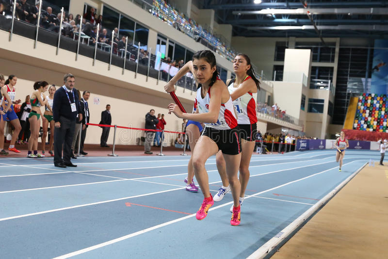 Balkan Junior Indoor Championships Istanbul 2017 arkivfoto