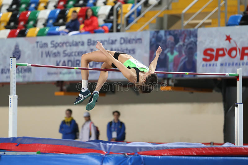 Balkan Junior Indoor Championships Istanbul 2017 royaltyfri foto
