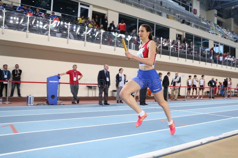 Balkan Junior Indoor Championships Istanbul 2017 arkivfoton