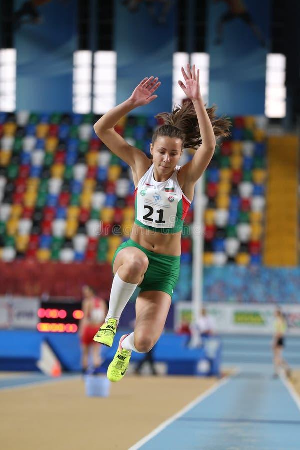 Balkan Junior Indoor Championships Istanbul 2017 arkivbilder