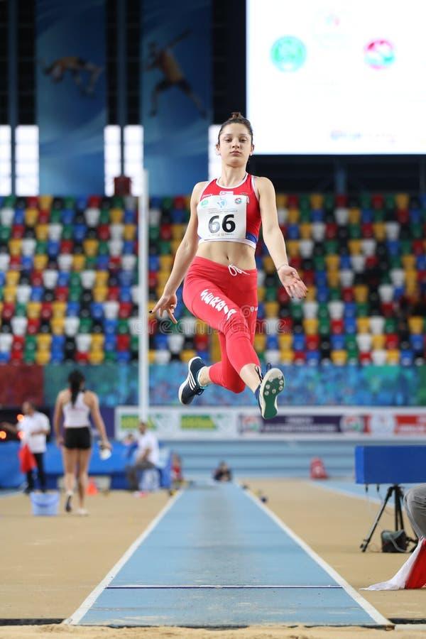 Balkan Junior Indoor Championships Istanbul 2017 royaltyfria foton